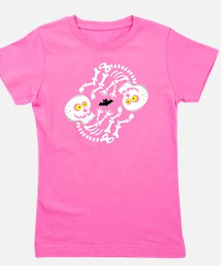 Maternity Skeleton Twins Baby Girl's Tee