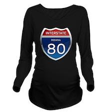 Indiana Interstate 8 Long Sleeve Maternity T-Shirt