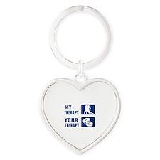 rumba designs Heart Keychain
