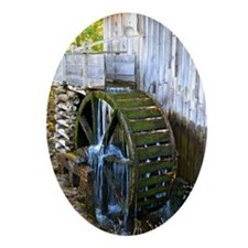 Mill in Cades Cove Oval Ornament