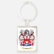Neal Coat of Arms (Family Crest) Portrait Keychain