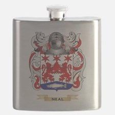 Neal Coat of Arms (Family Crest) Flask
