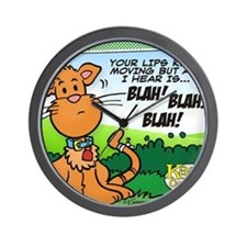 BLAH! BLAH! BLAH! Wall Clock