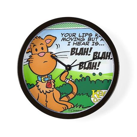 BLAH! BLAH! BLAH! Wall Clock