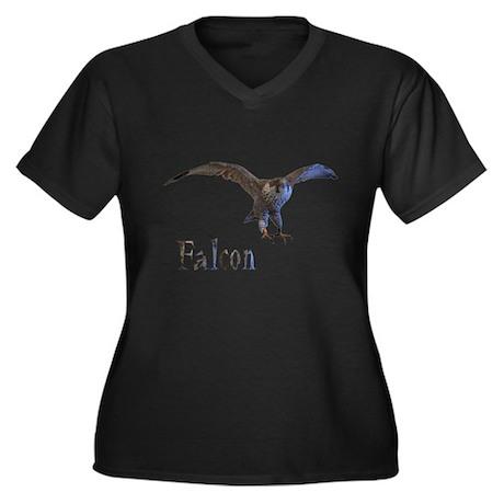 falcon Women's Plus Size V-Neck Dark T-Shirt