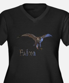 falcon Women's Plus Size V-Neck Dark T-Shirt