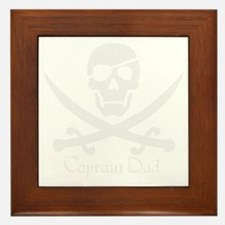 Captain Dad Jolly Roger Pirate Crossbo Framed Tile