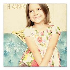 "Anya Lesson Planner 2013 Square Car Magnet 3"" x 3"""