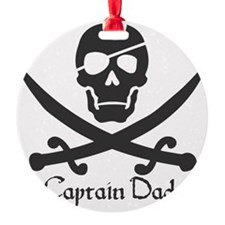 Captain Dad Jolly Roger Pirate Cros Ornament