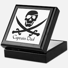 Captain Dad Jolly Roger Pirate Crossb Keepsake Box