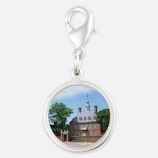 GOVORNORS PALACE COLONIAL WILL Silver Round Charm