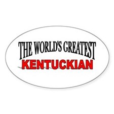 """The World's Greatest Kentuckian"" Oval Decal"