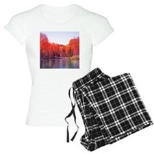 Autumn Pond with Rich Red T Pajamas
