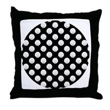 Black | White Clamshells Seashells Throw Pillow