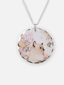 Cute Siamese Kitten Necklace