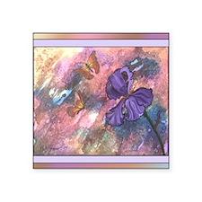 "Pastel Monarchs 104x88 King Square Sticker 3"" x 3"""