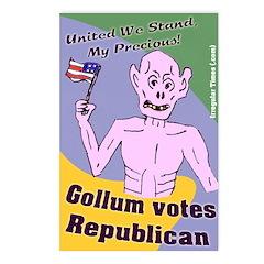 8-pack Gollum Votes Republican Postcards