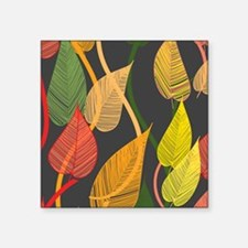"Autumn Leaves Square Sticker 3"" x 3"""