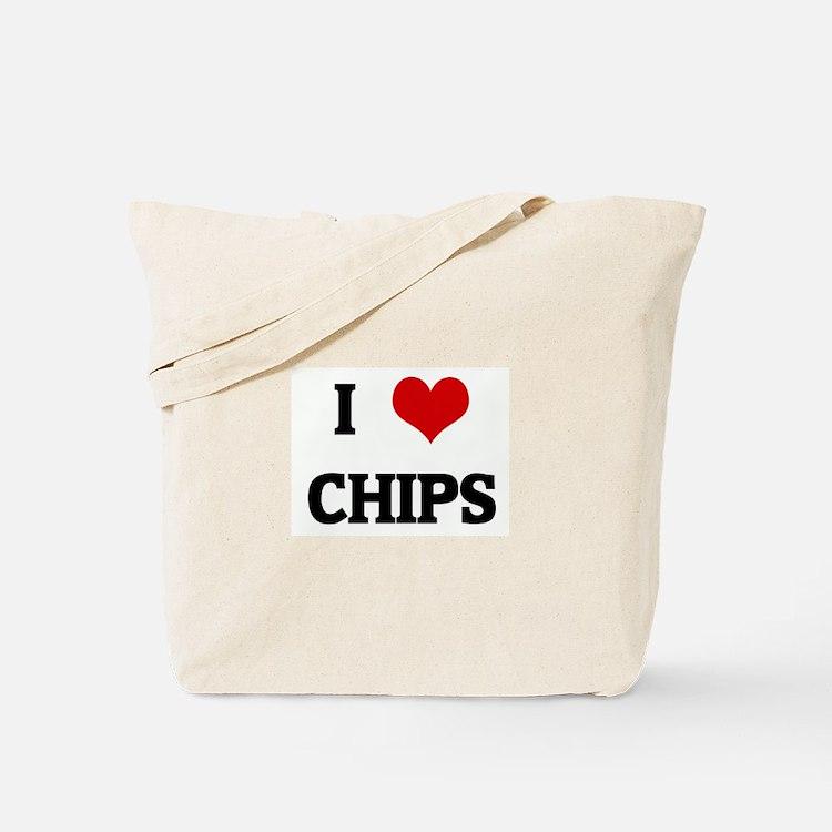 I Love CHIPS Tote Bag