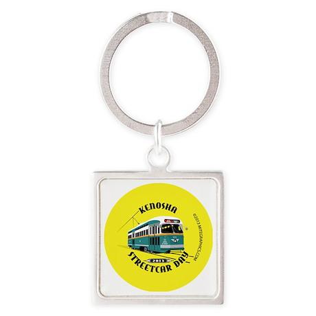 Kenosha Streetcar Day 2013 FINAL Square Keychain