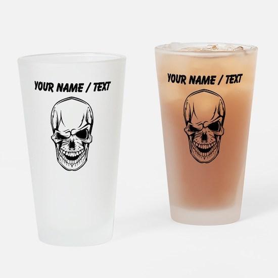 Custom Winking Skull Drinking Glass