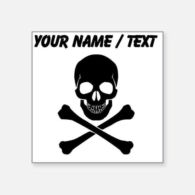 Custom Skull And Crossbones Sticker