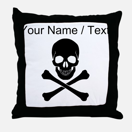 Custom Skull And Crossbones Throw Pillow