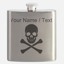 Custom Skull And Crossbones Flask