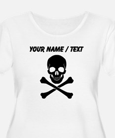 Custom Skull And Crossbones Plus Size T-Shirt