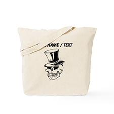 Custom Skull With Top Hat Tote Bag