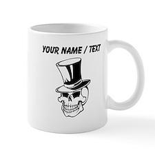 Custom Skull With Top Hat Mugs