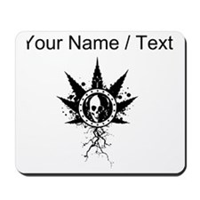 Custom Weed Leaf Skull Mousepad