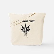 Custom Weed Leaf Skull Tote Bag