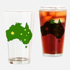 Australia Flag Drinking Glass