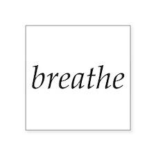 breathe - Oval Sticker