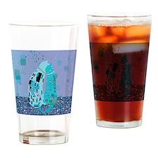 Klimts Kats in Blue Drinking Glass