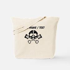 Custom Gearhead Skull Tote Bag