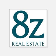 "8z Real Estate Logo Square Sticker 3"" x 3"""