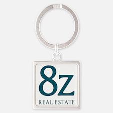 8z Real Estate Logo Square Keychain