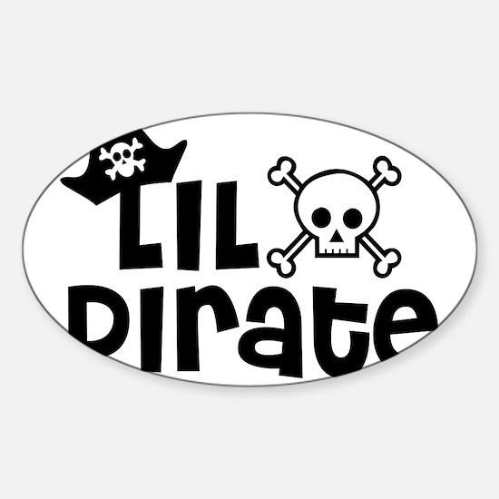 Lil Pirate Sticker (Oval)