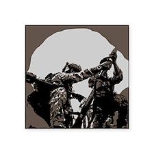 "Ranger Mortar Team Square Sticker 3"" x 3"""