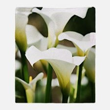 White Calla Lilies Throw Blanket