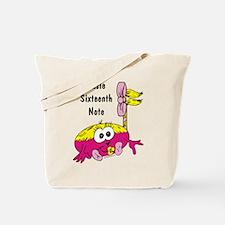 Susie Sixteenth Note Tote Bag