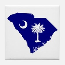 South Carolina Palmetto Tile Coaster