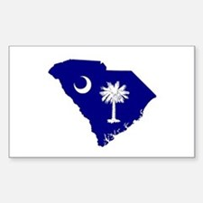 South Carolina Palmetto Rectangle Decal