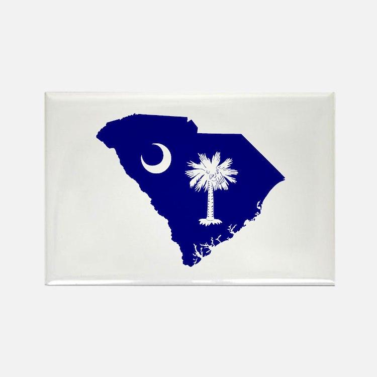 South Carolina Palmetto Rectangle Magnet