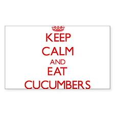 Keep calm and eat Cucumbers Decal