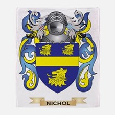 Nichol Coat of Arms (Family Crest) Throw Blanket