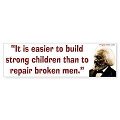 Frederick Douglass on children bumper sticker