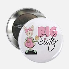 Big Sister Bunny (pink) Button